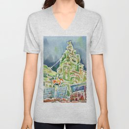 Watercolour of Liverpool Unisex V-Neck
