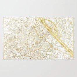Vienna Map Gold Rug
