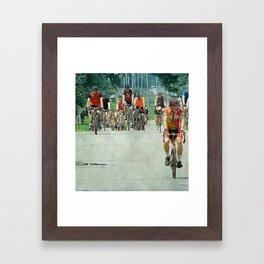 Bicyles Arrive in Fairfield, Iowa Framed Art Print