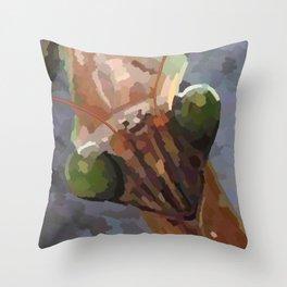 Mantis V1 Throw Pillow