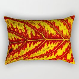 Tiger Leaf Rectangular Pillow