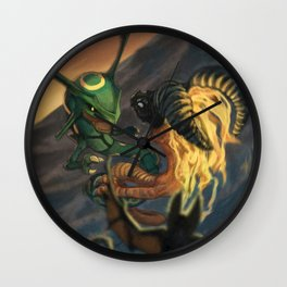 Rayquaza VS. Volvagia Wall Clock