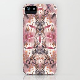 Tribal Influence - Repeat Watercolour Pattern iPhone Case