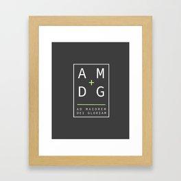 Jesuit motto latin phrase: Ad Maiorem Dei Gloriam Framed Art Print