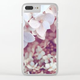Pink and White Flowers (Color) Clear iPhone Case