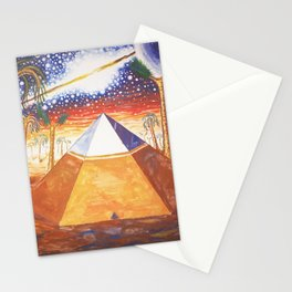 The Cydonia pyramid by the time there was life on Mars Stationery Cards