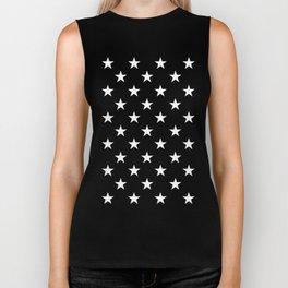 Stars (White/Black) Biker Tank