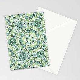Green petal kaleidoscope  Stationery Cards