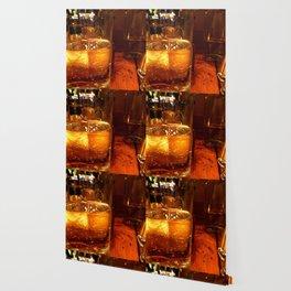 SPARKLING GOLDEN WATER Wallpaper