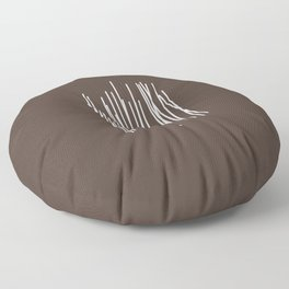Wood in Brown - Minimalist Feng Shui - by Friztin Floor Pillow