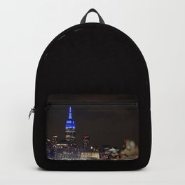 Midtown Manhattan at Night Backpack