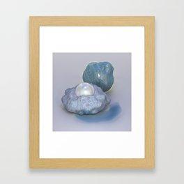 Sculpted Moonstones Framed Art Print
