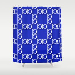 angle blue & yellow Shower Curtain