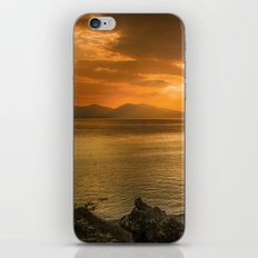 Sunset over Lismore Island of the shores of Oban in the west of Scotland. iPhone & iPod Skin