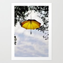 Brolly In The Park 31 Art Print