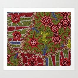 Aboriginal Art Authentic- Connections Art Print
