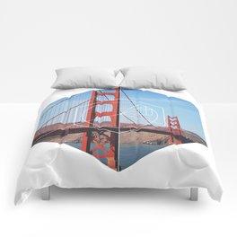 Golden Gate Bridge - Geometric Photography Comforters