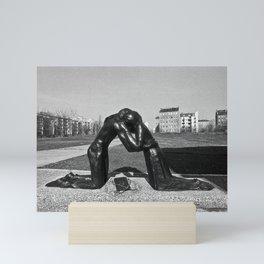 Reconciliation sculpture in East Berlin Mini Art Print