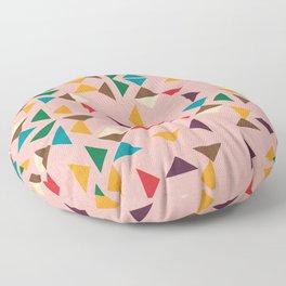 Triangle mod pink Floor Pillow
