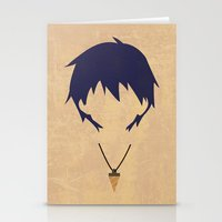 gurren lagann Stationery Cards featuring Minimalist Simon by 5eth