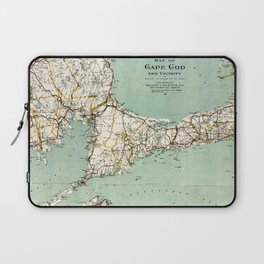 Cap Cod and Vicinity Map Laptop Sleeve