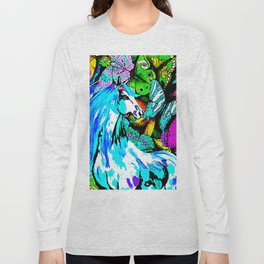 Horses and Butterflies Long Sleeve T-shirt