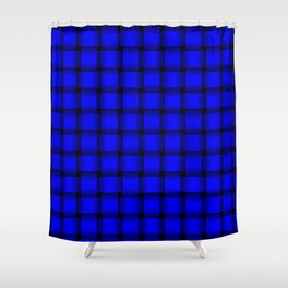 Blue Weave Shower Curtain