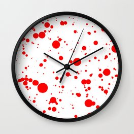 310001 Blood Red and White Painting Wall Clock