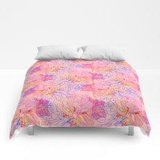 psychedelic succulent Comforters