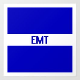 EMT: The Thin White Line Art Print