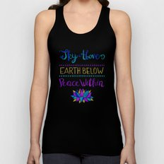 Sky Above Earth Below Peace Within Unisex Tank Top