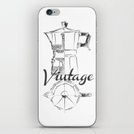 Coffee pot blueprint sketch  iPhone Skin