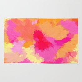 Pink, Orange and Yellow Watercolors Rug