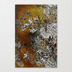 Amber Chinese Silk Canvas Print
