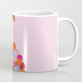 Rainbow Pride Balloons Love Coffee Mug