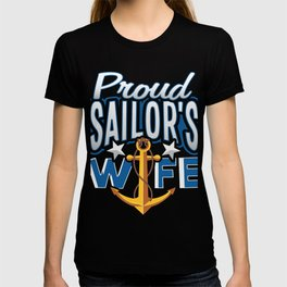 Proud Sailor's Wife Navy Enlisted T-shirt