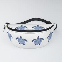 Sea Turtle Pattern in Indigo Fanny Pack