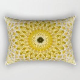 Honey and milk mandala Rectangular Pillow