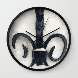 Snowy Iron Wall Clock