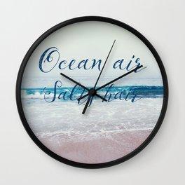 Ocean air Salty hair Wall Clock