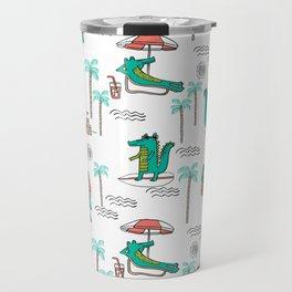 Alligator vacation tropical gator life palm beach socal florida gators Travel Mug