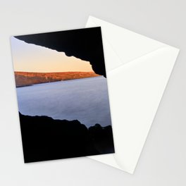 Del Medio Cave. Sunset at the beach. La Gomera Stationery Cards