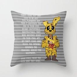 Poor Little Souls Throw Pillow