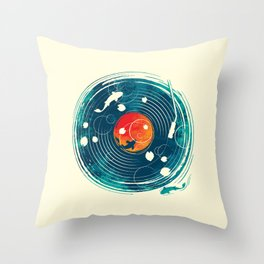 Sound of Water Throw Pillow