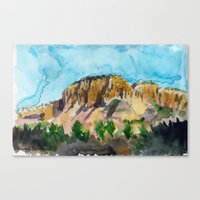 sunset in the valley Canvas Print