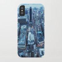 manhattan iPhone & iPod Cases featuring Manhattan by Joanna Dickinson