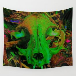 Cat Skull Wall Tapestry
