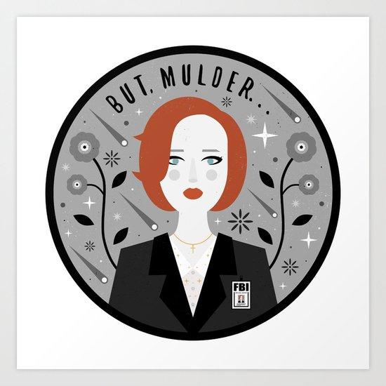 Scully Art Print