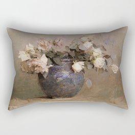 Abbott Handerson Thayer - Roses - Digital Remastered Edition Rectangular Pillow