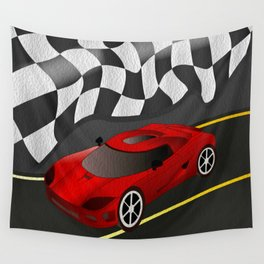 Red Racer Wall Tapestry